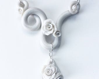 Swirling Rose Necklace