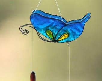 Blue butterfly hanging baby crib yoga decor room altar meditation