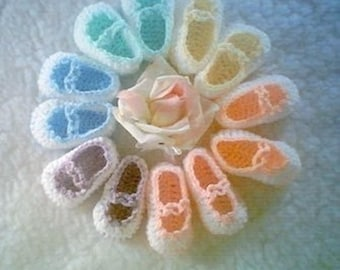 0023 QUICK Mary Jane Baby Reborn Crochet Shoes Digital Download Pattern by CarussDesignZ
