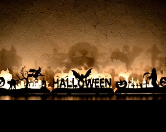 Halloween decoration Fall Pumpkin decor Halloween lights window decorations