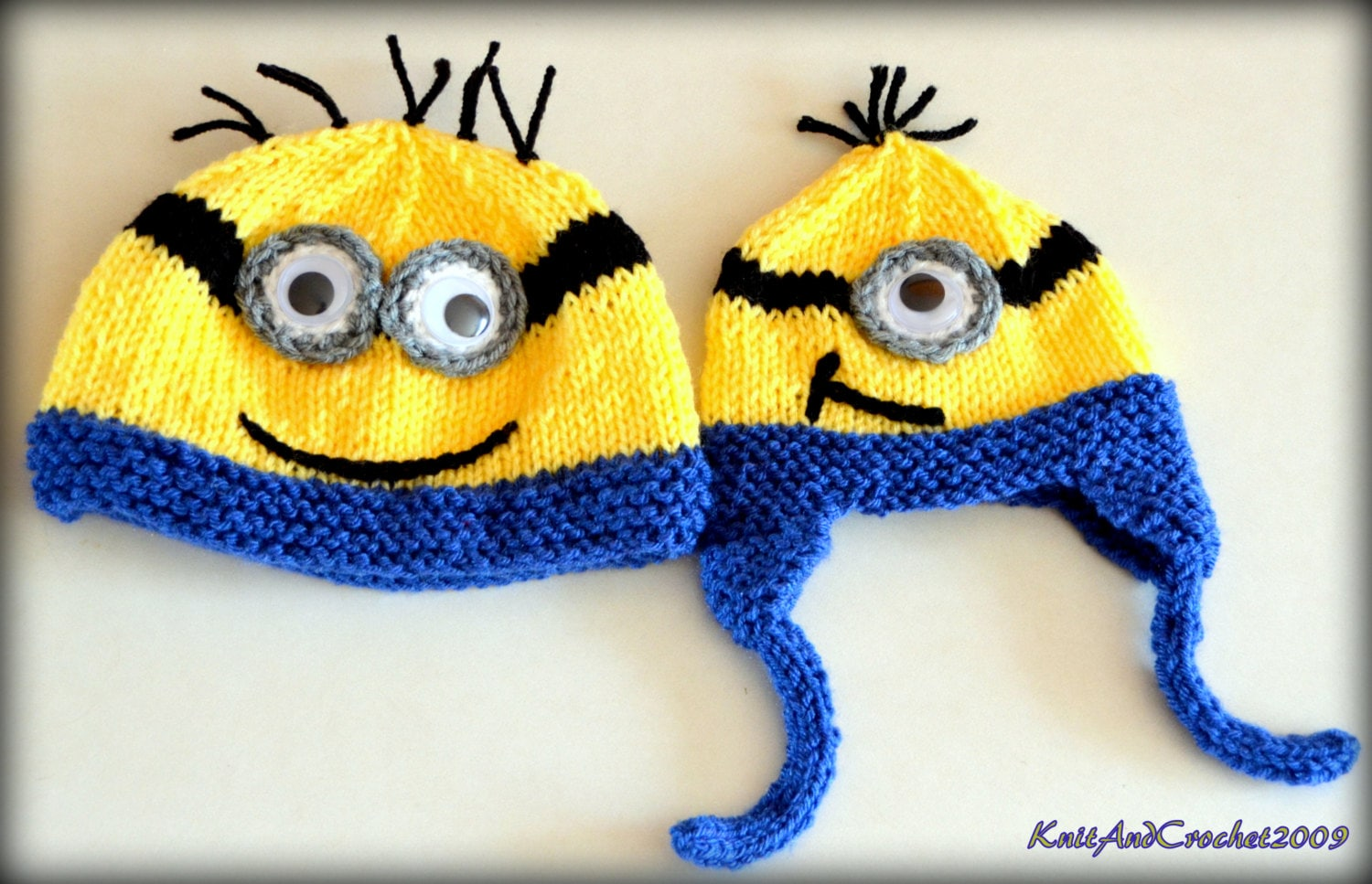 Unique Knitted Minions Pattern Image - Easy Scarf Knitting Patterns ...