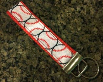 Key Fob Wristlet Keychain/Baseball