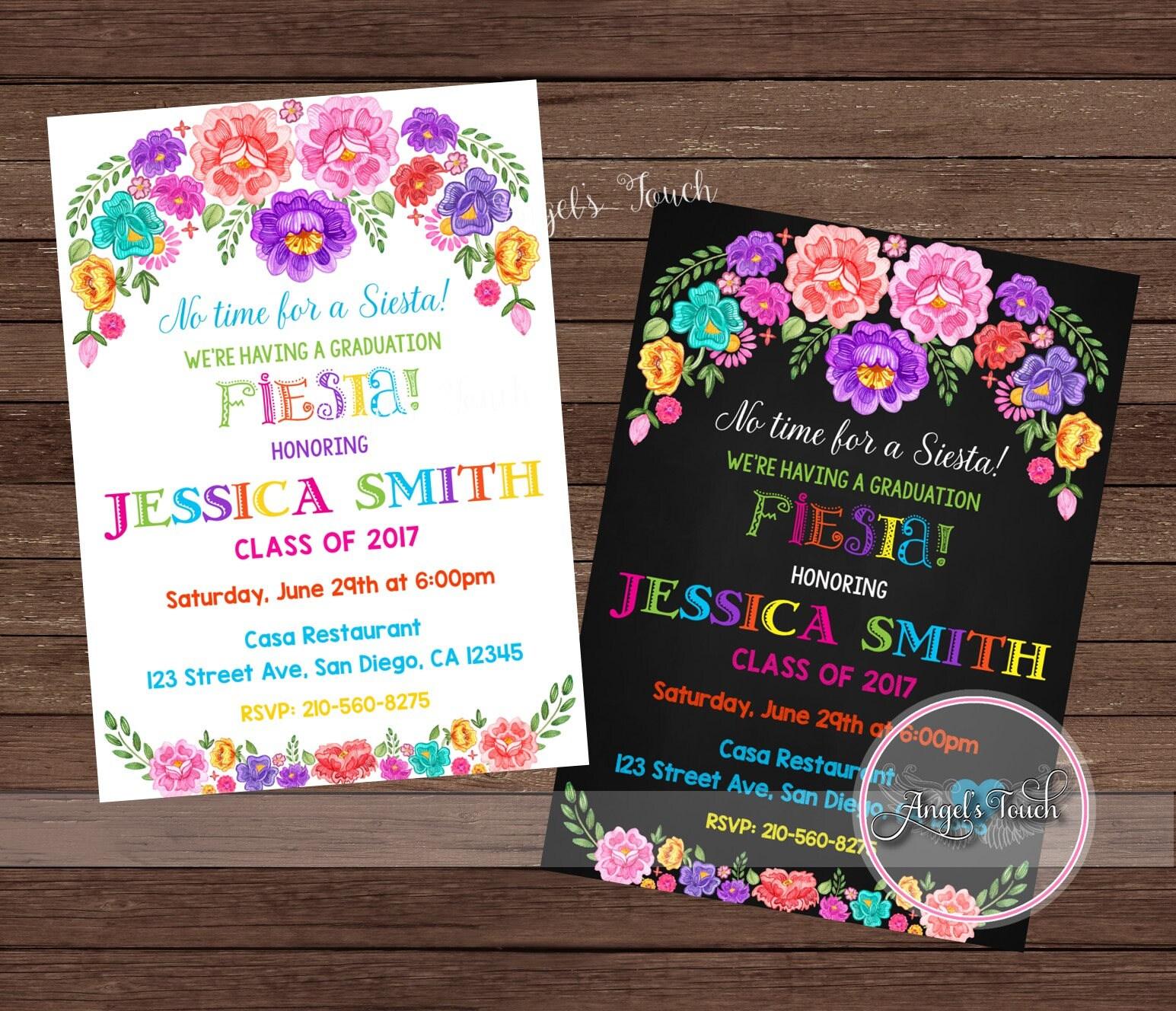 Graduation Party Invitation, Fiesta Graduation Party Invitation ...