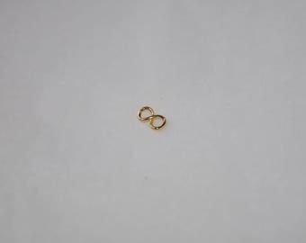GOLD plated 9 x 5 mm minimalist infinity