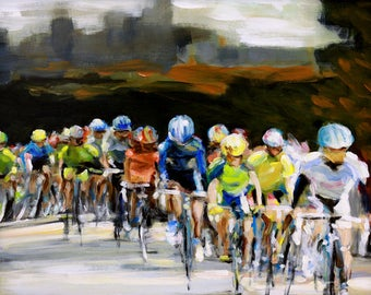 Saturday Race - Cycling Gicleé Fine Art Print