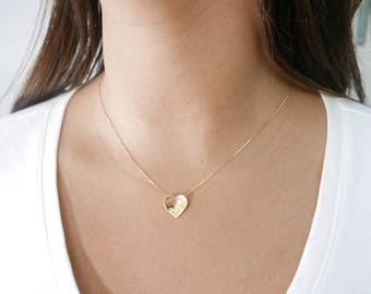 14k Gold Initial Pendant Necklace 14k gold necklace initial pendant letter charm necklace 14k gold necklace initial pendant letter charm necklaceheart personalized necklace gold audiocablefo