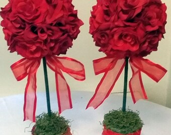 Red rose centerpiece | Etsy