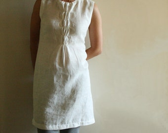 LINEN DRESS - WOFFLE / women / handmade linen clothing / spring / summer / day dress / linen wedding dress / made in australia / pamelatang