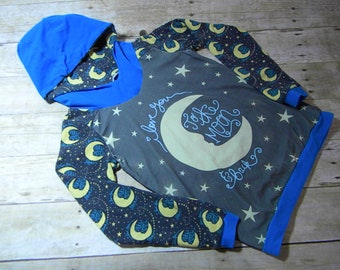 I Love You to the Moon & Back Kids Hoodie Size 10
