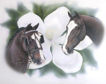 Examples of Pet Portraiture Horse, Dogs, Cat