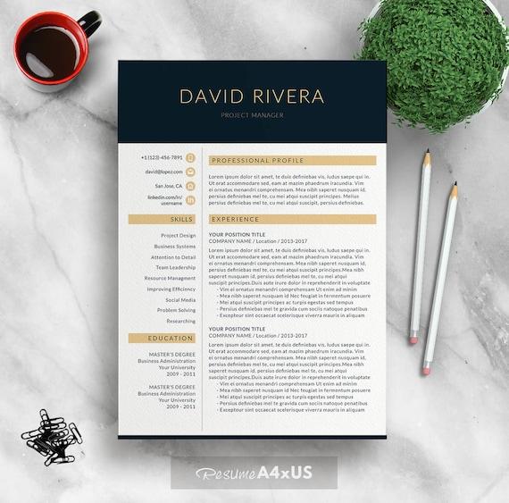 Professionellen Lebenslauf Vorlage für Word 1-3 Seite