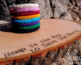 8 Hemp Bracelets, Handmade, Aromatherapy, Diffuser Jewelry, Unisex, For Her, For Him, Gift Boxed