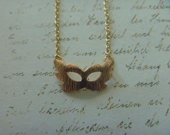 Venetian mask necklace
