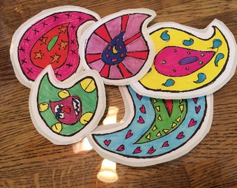 Peace and Paisley: psychedelic stickers