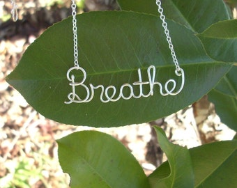 BREATHE Silver Necklace