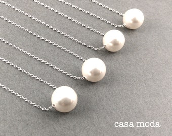 pearl necklace | bridal necklace | wedding jewelry | bridal | bridesmaids gifts | white pearl | best friend|girlfriends | everyday necklace