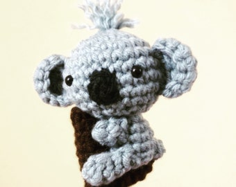Amigurumi Koala (Optional Finger Puppet) Crochet Pattern