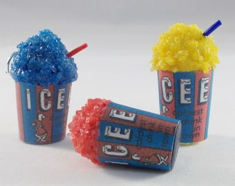 Ships IMMEDIATELY From California Scented Icee inspired charm.Choose your flavor. Miniature food jewelry