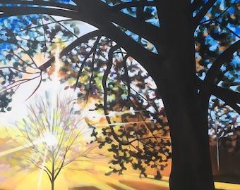 Koinobori - Acrylic Landscape Painting