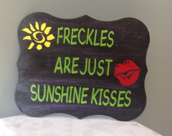 Freckles are just sunshine kisses