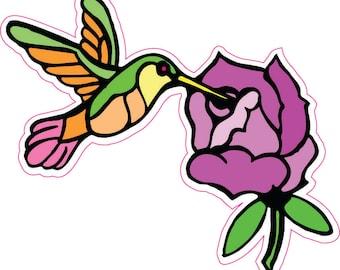 Hummingbird Full Color Decal