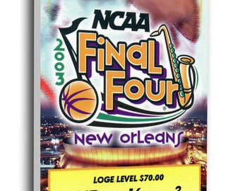2003 Final Four Canvas Mega Ticket - Syracuse Orange (Carmelo Anthony MOP)