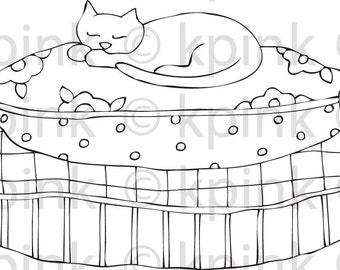 Cat Nap - i Dig Digi Stamp