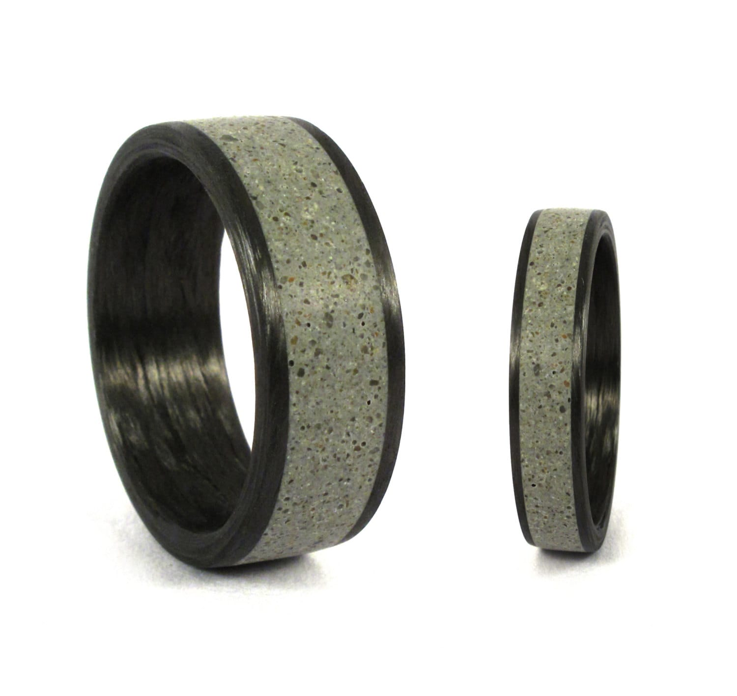 bands wedding fiber carbon rings edit