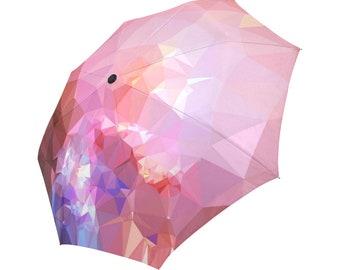 Pink Umbrella Magenta Umbrella Abstract Umbrella Geometric Pattern Umbrella Rainbow Umbrella Photo Umbrella Automatic Foldable Umbrella