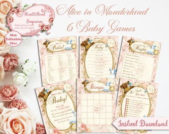 Alice in wonderland baby shower Etsy