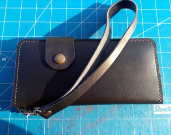 Long handmade leather wallet, Biker wallet, Leather phone wallet, Long mens wallet, Mens leather wallet, Chain wallet , Gift for him