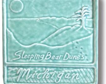 "Sleeping Bear Dunes 6x6"" Art Tile"