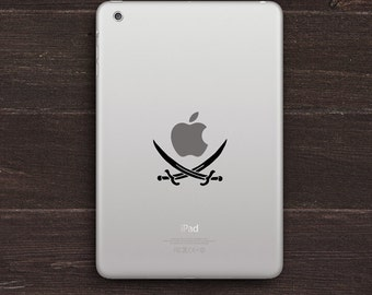Pirate Swords Vinyl iPad Decal BAS-0173
