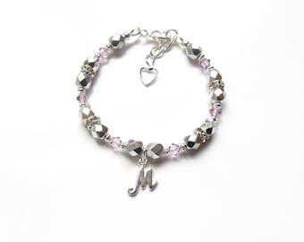 Personalized Jewelry for Girls, June Birthstone Bracelet, Childrens Bracelets Personalized, Kids Jewelry, Birthstone Bracelet Charm