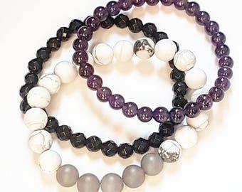 Mala bracelet custom stack of serenity