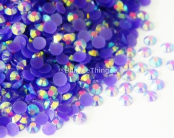 Sale 1000 4mm DARK PURPLE AB Jelly Flatback Resin RHinestones Candy Cabs ss16 Embellishments Diy Deco Bling Kit Nail Art Supplies