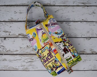 Boxy Project Bag- Vintage Posters