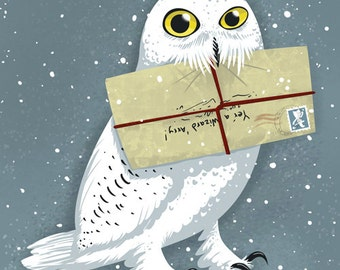 Hedwig Owl 5x7 Harry Potter Art Print