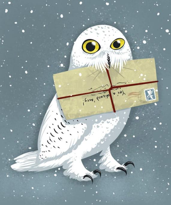 hedwig owl 8x10 harry potter art print