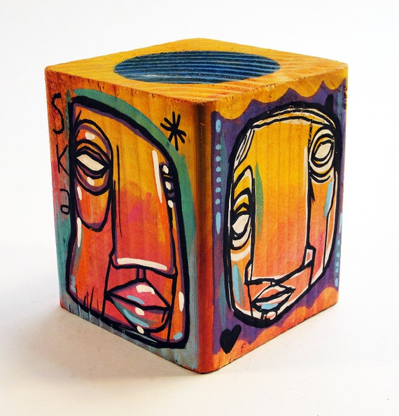 Funk Totem Part No. 291 - Original Mixed Media Block - Vol. 12