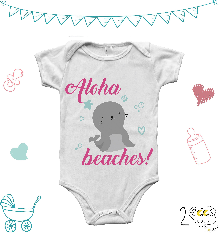 Summer baby girl clothes aloha beaches babybeach baby