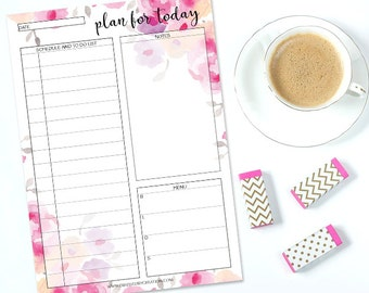Planner inserts a5, daily planner printable, 2017 daily planner, Printable daily planner