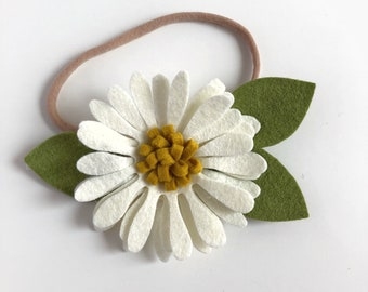 Daisy Flower Crown, White Floral Crown