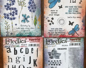 PaperArtsy Eclectica3. various Rubber Stamp Sets