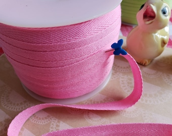 """MEDIUM PINK Twill Tape Trim - POLYESTER Sewing Bunting Shipping Packaging - 1/2"""" Wide - 10 Yards"""