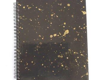 Notebook Black Gold Splatter #BOSS Notebook