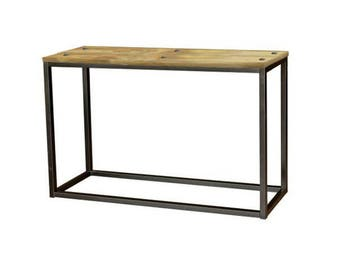 Industrial furniture made of wood and metal spirit Factory console