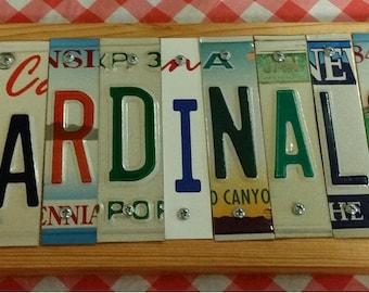 STL Cardinals License Plate Sign