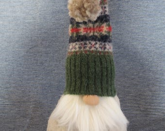 Nordic Gnome small with Upcycled wool hat