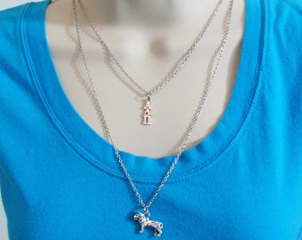 Alpha Delta Pi ADPi Lavaliere Greek Letters Lion Double Strand Officially Licensed